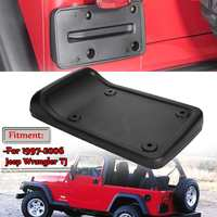 High Quality Car Tail Rear License Plate Frame Holder Mounting Bracket For Jeep For Wrangler TJ 1997 2006 Black ABS Plastic