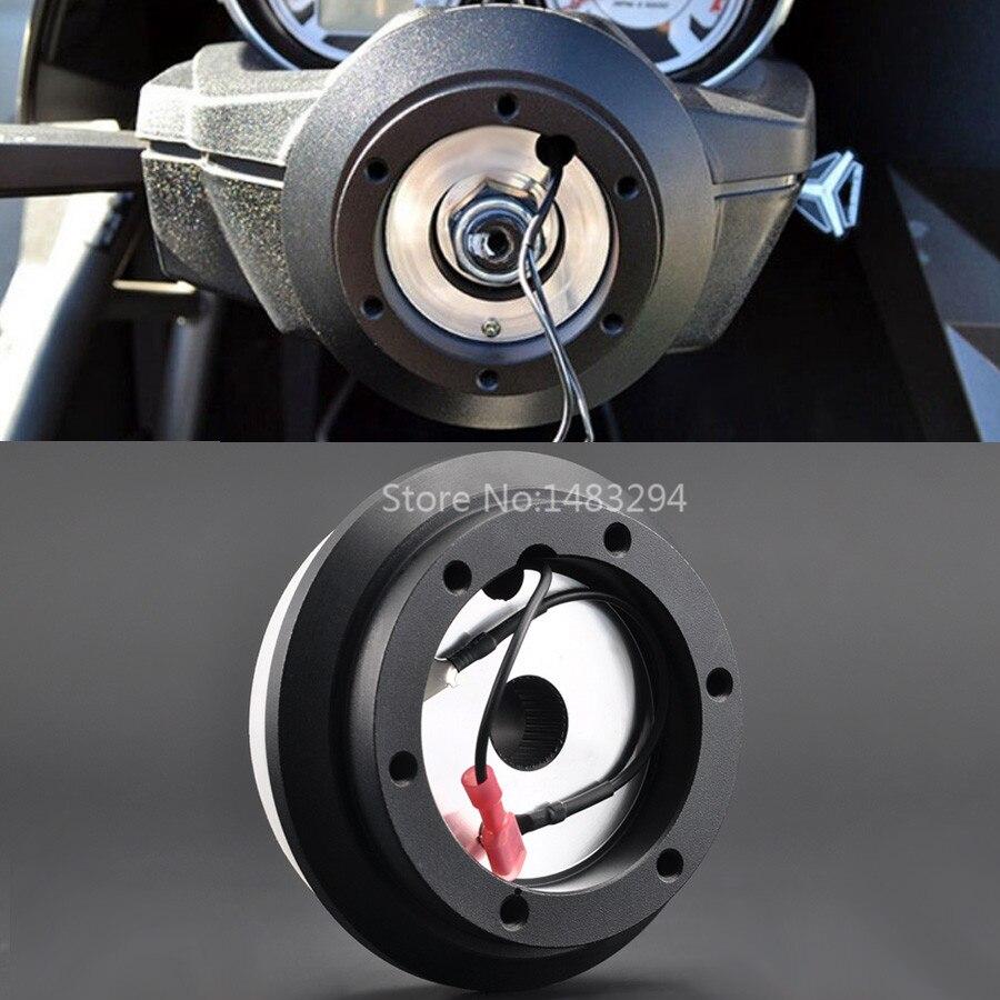Black Racing Steering Wheel Short Hub Adapter Boss Kit Fit For Honda Accord Civic Odyssey