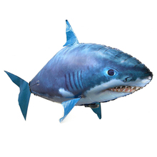 Remote Control Shark Toys RC Air Swimming Fish Infrared RC Flying Air Balloons Nemo Clown Fish Kids Toys Gifts Party Decoration