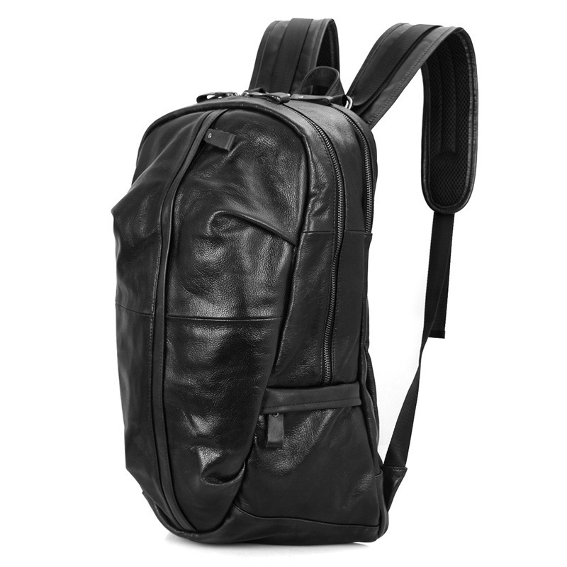 Brand Men School Backpack for Teenager Boy and Girl Fashion Cow Leather Backpack Male Waterproof for