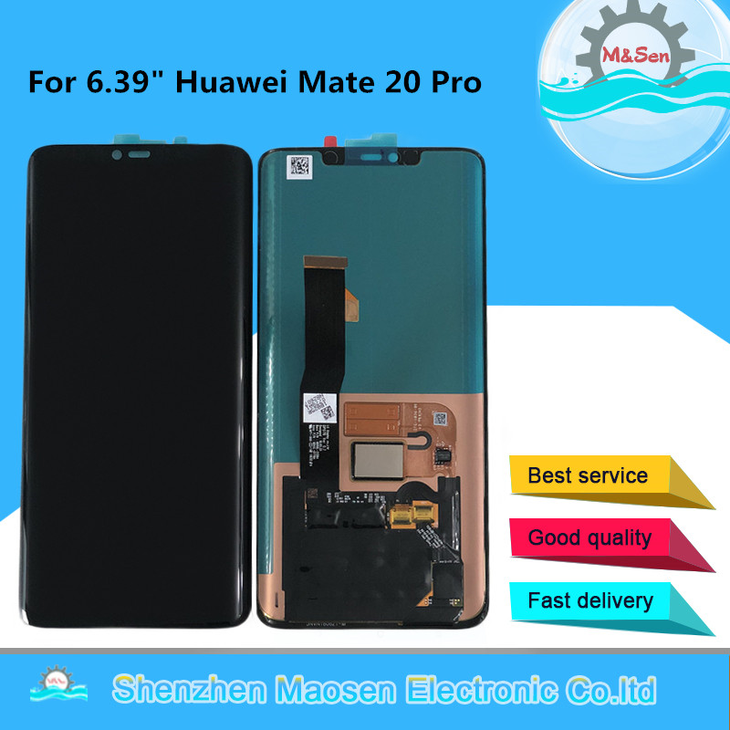 Original M Sen For 6 39 Huawei Mate 20 Pro AMOLED LCD Screen Display Touch Panel
