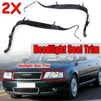New A Pair Car Front Headlight Seal Cover Trim Ring For Audi A6 C5 2002 2005 Facelift 4B0941191A 4B0941192A