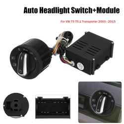Samochód auto reflektor latarka czołowa z czujnikiem przełącznik + moduł sterujący do VW T5 T5.1 Transporter 2003 2015 w Przełączniki i przekaźniki samochodowe od Samochody i motocykle na