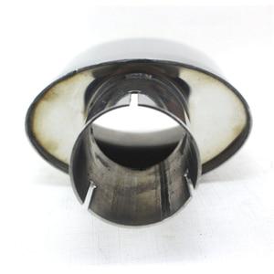 Image 5 - Universal Auto edelstahl Auspuff End Tipps Rohre auspuff oval spitze OD 54MM ID 51MM