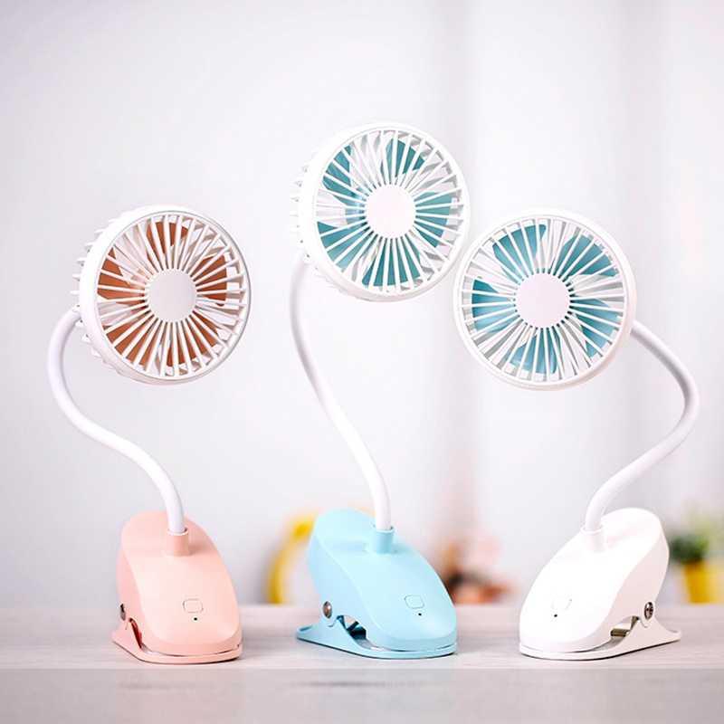 Usb Tragbare Clip Auf Kinderwagen Fan, Flexible Biegsame Mini Persönliche Schreibtisch Elektrische Fans Mit Akku Betrieben Ruhig