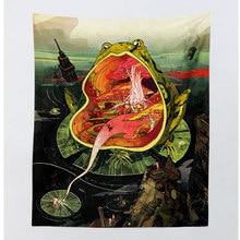 Хиппи бохо Декор МАНДАЛА ГОБЕЛЕН колдовство акварельное искусство подвесные настенные гобелены пейзаж психоделический гобелен настенная ткань