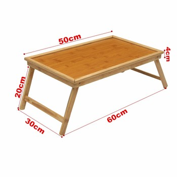 Wooden Bamboo Foldable Bed Tray 1