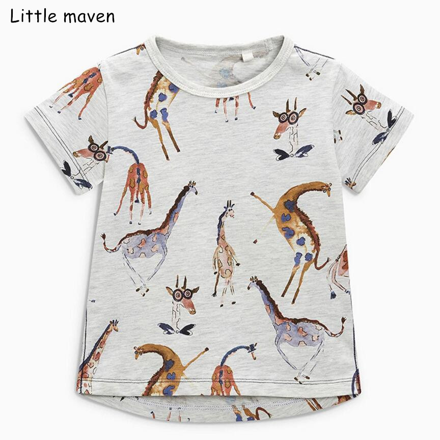 Tee-Tops T-Shirts Short-Sleeve Animal-Print Baby-Boys Little Maven Summer Brand Funny
