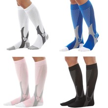 Fashion Unisex Men Women Leg Support Stretch Compression Socks Below Knee Outdoor Sports Riding