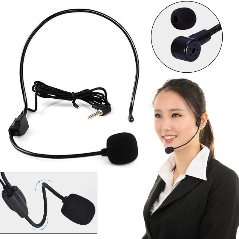 Wired Hands Professional Headworn Wired Hands Free Headset Microphone Mic System 3.5mm Jack Megaphone For Speaker Teacher