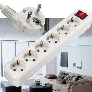 CLAITE EU Plug 6 Outlet Power