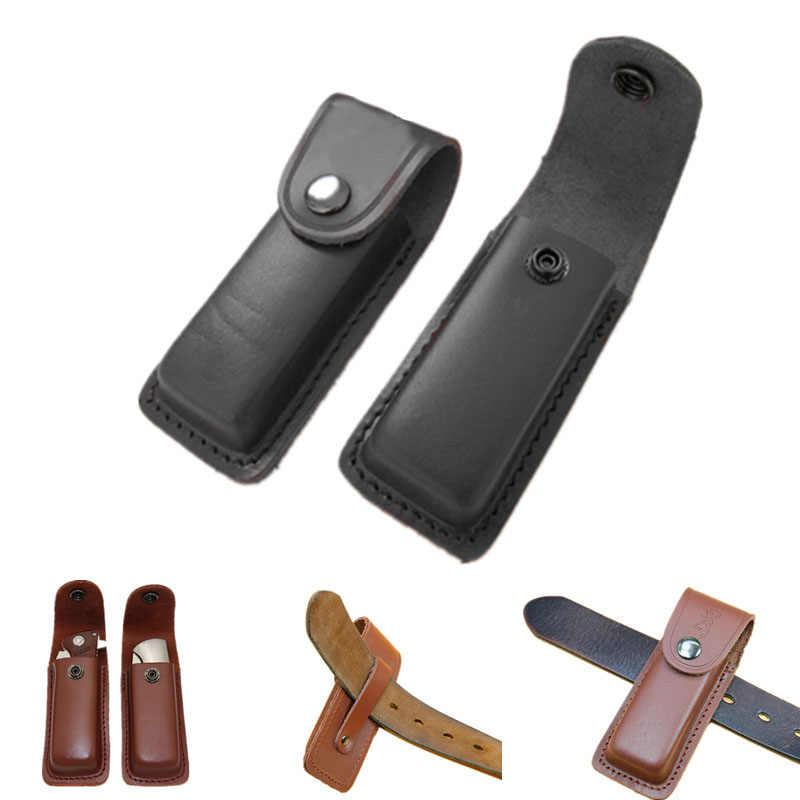 Складной нож ремень петля чехол инструмент держатель для фонарика кожаный
