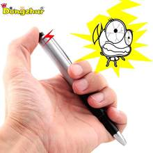 April Fool's Day Toy Fancy Ball Point Pen Shocking Electric Shock Toy Gift Joke Prank Trick Funny FES4198(China)
