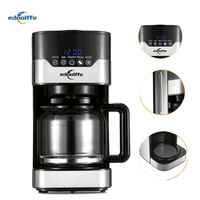 EDOOLFFE MD 259T 1.5L Smart Programmable Drip Coffee Machine With Glass Pot Anti Drip Stainless Steel Electric Coffee Maker