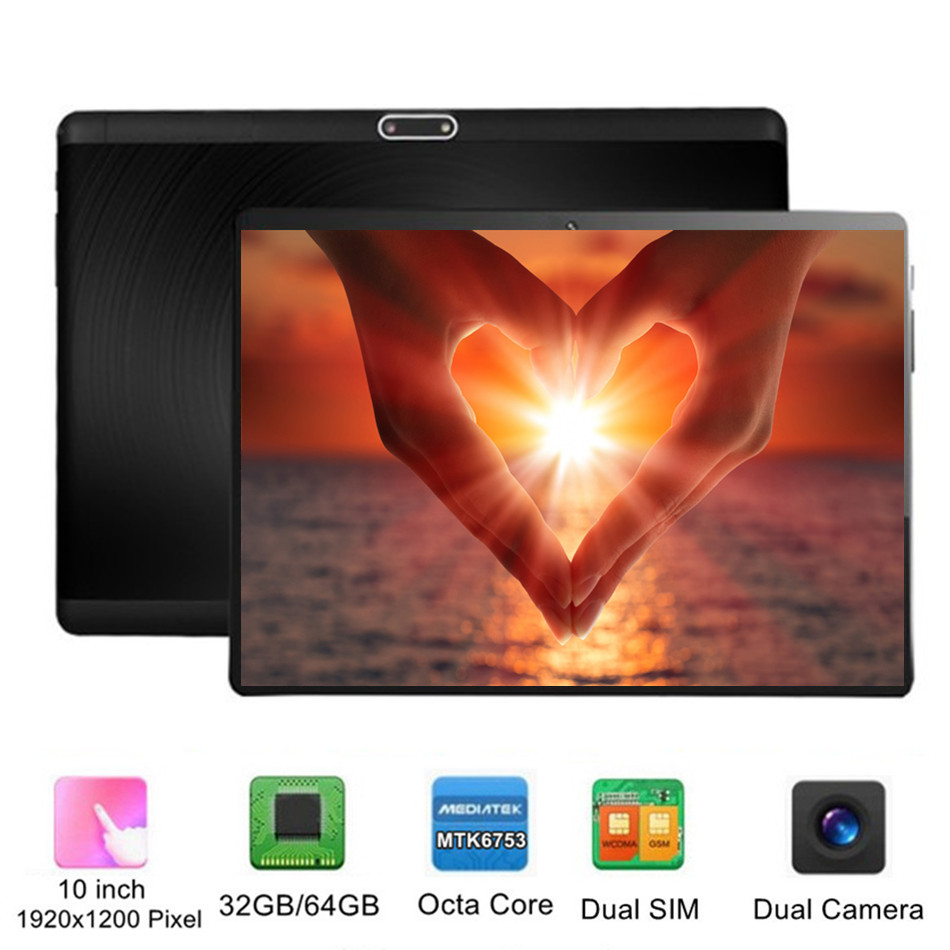 KUHENGAO Tab 10 - 10 Inch Tablet 32/64GB ( WIFI + 4G LTE UNLOCKED ) GSM Android Nougat Tablet 1920x1200