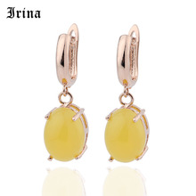 Irina Popular Rose Gold Ladies Ornaments  Fashion Geometric Ellipse Earrings Woman Personality Concise