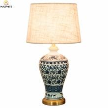 Chinese Desk Lamps Ceramic Retro LED Table Lamp Bedroom Bedside Lamps Table Living Room Vintage Desk Lights Decoration Luminaire все цены