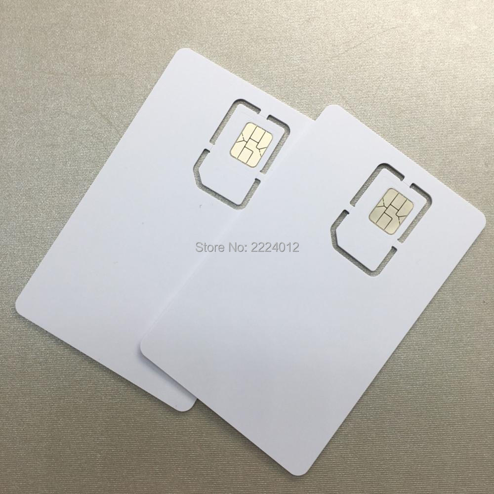 128K 4G Programable Blank SIM Card GSM WCDMA LTE SIM Card 2FF/3FF/4FF with  ICCID IMSI KI OPC(OP) for