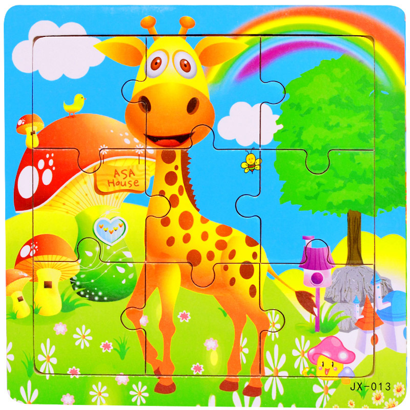 Image 5 - DDWE 9PCS Baby 3D Wooden Jigsaw Puzzles Toys Cartoon Animals Puzzles Kids Educational Toys For Children Gifts 1 5 Years-in Puzzles from Toys & Hobbies