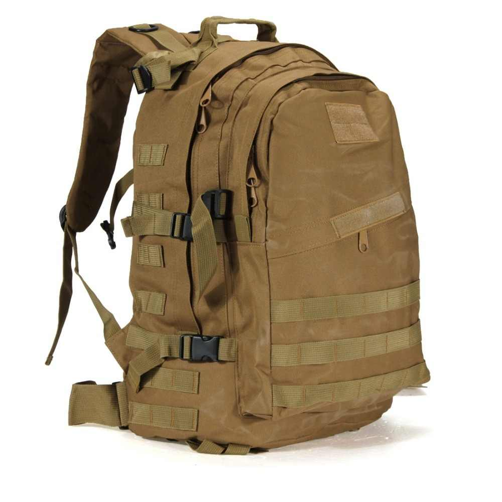 55L 3D Outdoor Sport Military Tactical Climbing Mountaineering Backpack Camping Hiking Trekking Canvas Camo Rucksack Travel Bag