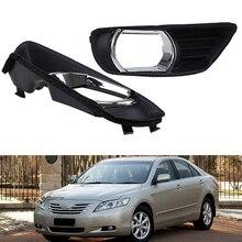 1 пара, автомобильный передний бампер, противотуманный светильник, нижний противотуманный светильник, Накладка для Toyota Camry XV40 2007 2008 2009, противотуманный светильник, крышка