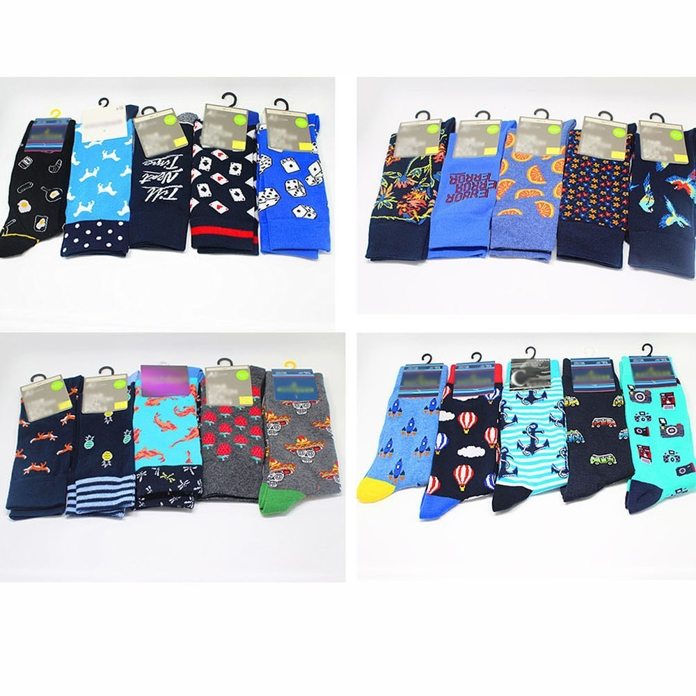PEONFLY Cool Food Animal Hip Hop Crew   Socks   Funny Street Happy   Socks   Men Harajuku Divertidos Skateboard Chaussette Homme