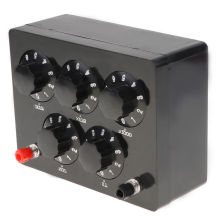 Black Resistance Box Iron Variable Decade Resistor Resistance Box 0-9999.9 Ohm 165x125x60mm For Physical Teaching цены