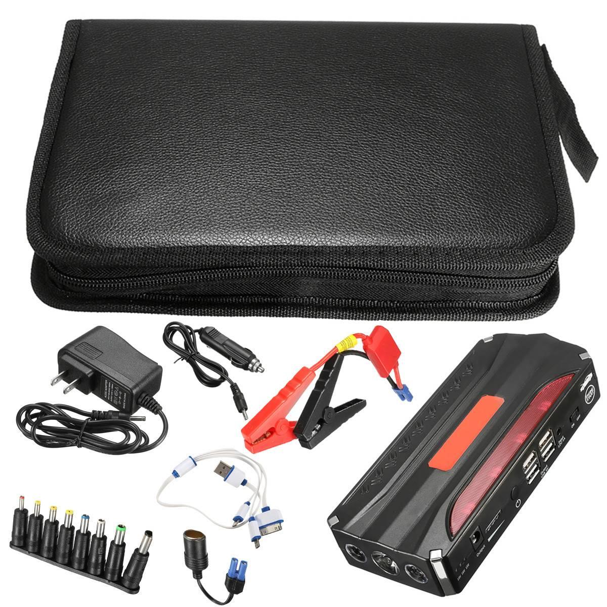 Multi Функция практичный 69800 мАч светодио дный 4 USB автомобиль пусковой стартер Booster портативный запасные аккумуляторы для телефонов резервног...