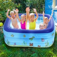 1 Pair Blue Cute Environment friendly Inflatable Baby Bath Swim Tubs Newborn Thickening Cartoon Portable Bathtub 2019 New