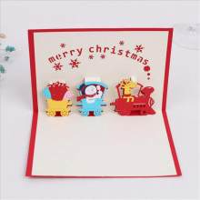 3d merry christmas greeting cards new year wedding party invitation card christmas gift message card cartoon kid gift card