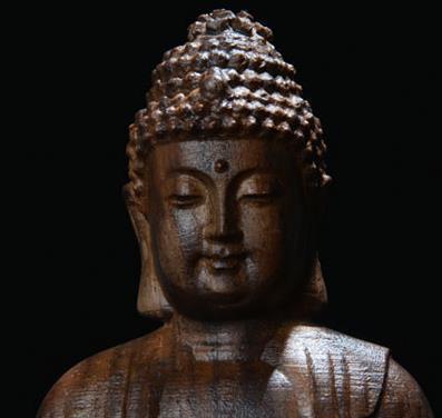 Eaglewood naturel, assis sur le lotus, Shakya Muni, ornements de bouddha, bouddhisme, artisanat de sculpture sur bois, figure, statue ~