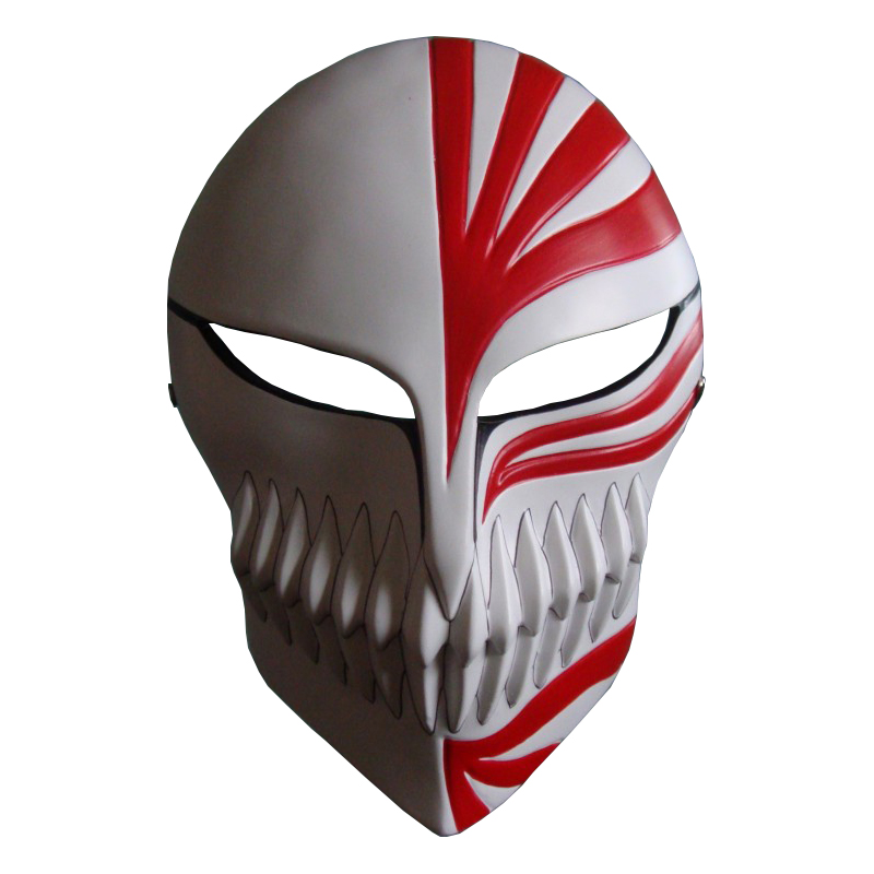 Anime Bleach Kurosaki Ichigo Mask Resin Costume Cosplay Halloween Costume For Adult