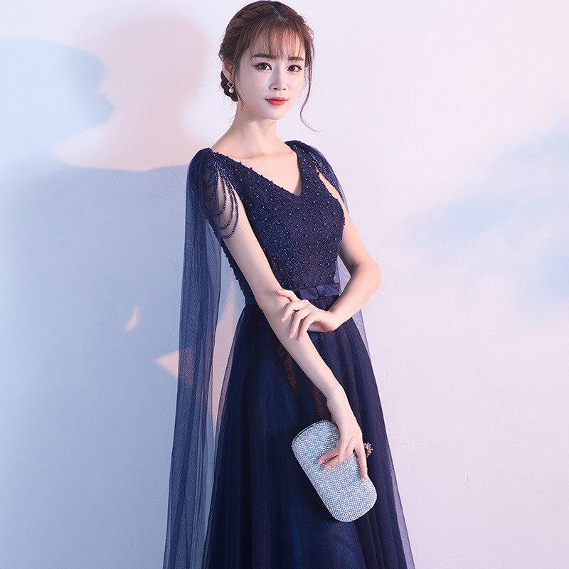 Robe de demoiselle d'honneur bordeaux élégante longue dentelle perles col en V robe de mariée avec nœud ceinture robe de demoiselle d'honneur Mingli Tenngda