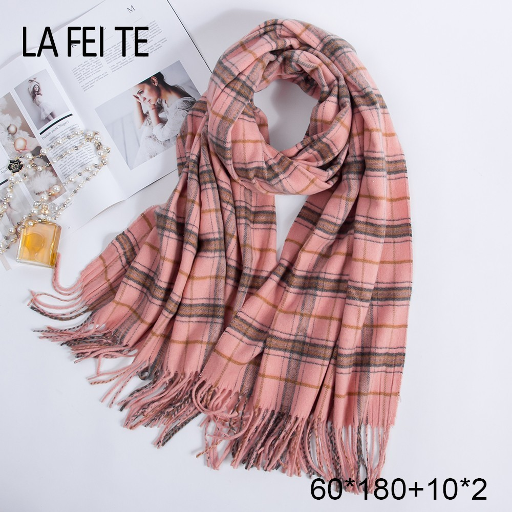 Image 2 - Pure 100% Wool Scarf Women Foulard Neck Handkerchiefs Echarpe Homme Cashmere Shawls Blanket Stoles Women Scarves For Ladies 2019-in Women's Scarves from Apparel Accessories