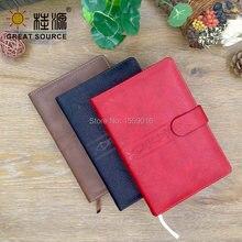 Кожаный чехол для ноутбука b5 2020 journal 140 листов мягкий