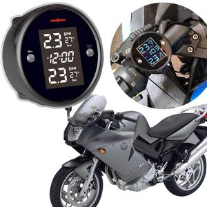 Image 2 - New Motor Universal Wireless Motorcycle TPMS Tire Pressure Monitoring System With Time Display 2 Sensor External CHADWICK TP777