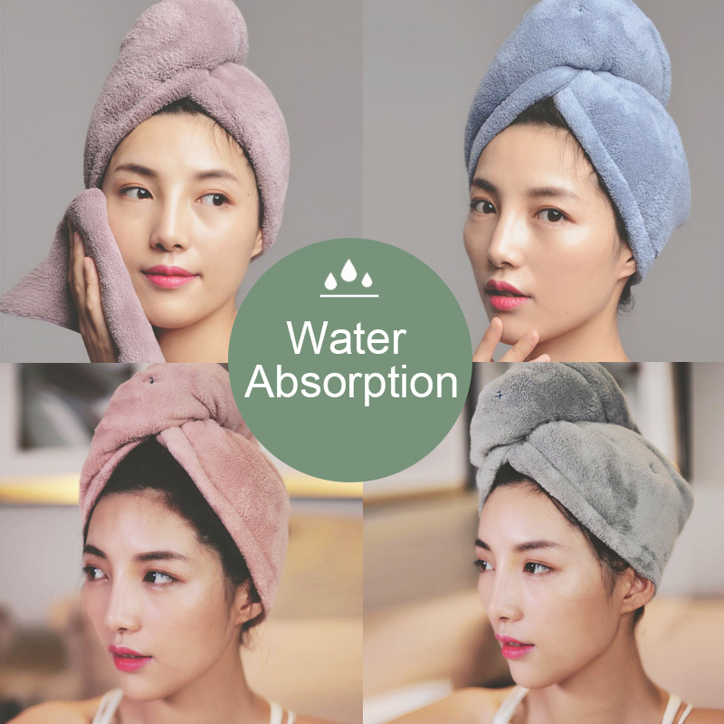 1pc Quick Dry Microfiber Towel Hair Magic Soft Bathing Spa Turban Wrap Hat Cap Dropshipping