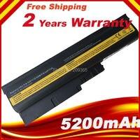 5200 mAh Bateria para IBM Lenovo ThinkPad R60e R61 R61e R61i T60 T60p T61 T61p R500 T500 W500 40Y6799 FRU 42T4504