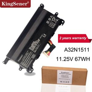 Kingsener A32N1511 A32LM9H Laptop Battery for ASUS ROG G752 G752V G752VT G752VY G752VL G752VM GFX72 GFX72V GFX72VT 11.25V 67WH(China)