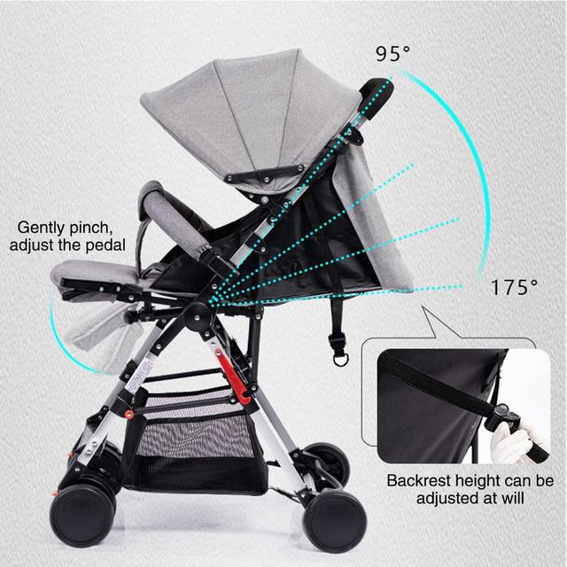 Kidlove Pull Rod Type High View Baby Trolley Shock Absorber Baby Stroller 0-3 years old high landscape children umbrella cars 2