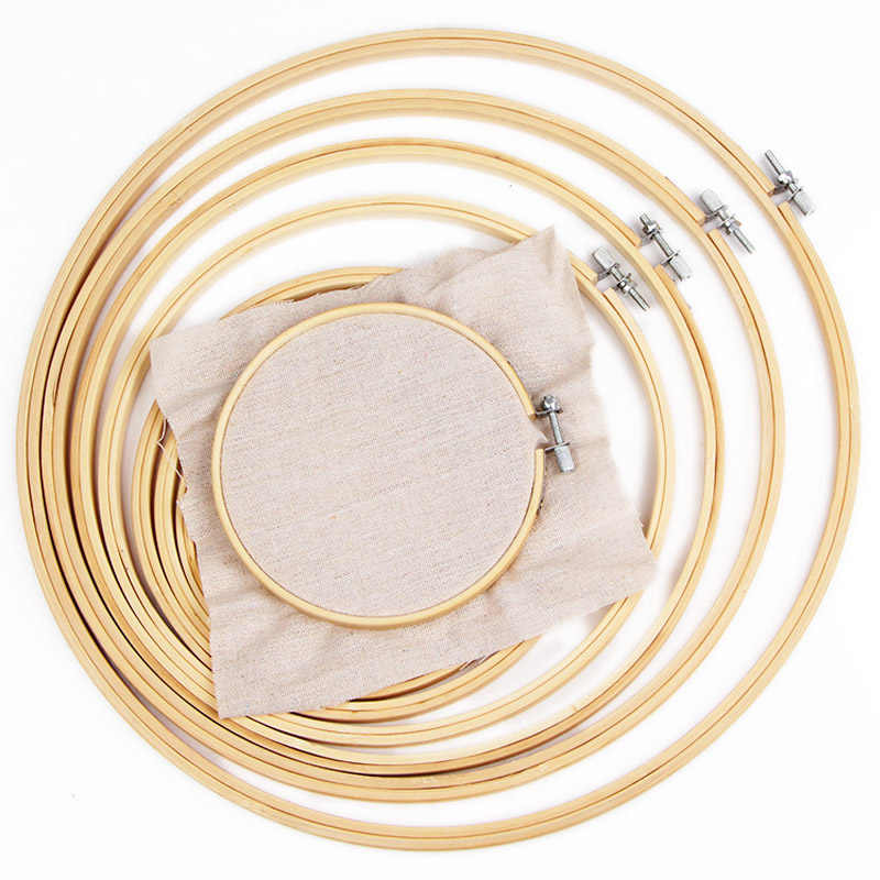 1pcs Bamboo Wooden Embroidery Hoop Ring CrossStitch Wooden Frame Hoop Circle MultiSize DIY Needwork Tool Household Sewing Craft