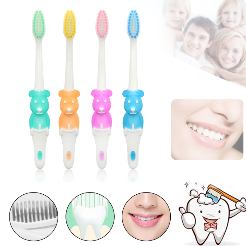 Bear Shape Baby Toothbrush Soft Brush Charcoal Fiber Training Teeth Infants Teether Baby Items for 4 ColorsBear Shape Baby Toothbrush Soft Brush Charcoal Fiber Training Teeth Infants Teether Baby Items for 4 Colors