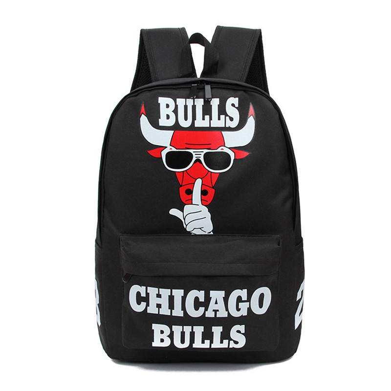 Fashion Chicago Bulls Backpack Women Casual Laptop Rucksack Letter Print School Bag For Teenagers Harajuku Canvas Backpacks