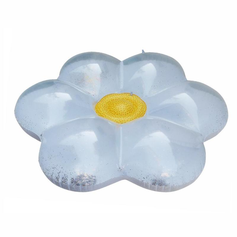 Accessories Motivated Sequins Flower Shaped Swimming Air Mats Floating Mat Pool Party Toy Leakproof Beach Inflatable Sea Bed Outdoor Water Playing Toy Nourishing The Kidneys Relieving Rheumatism