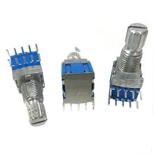 4 pcs silver + blue metal RS1010 band switch rotary switch gear change switch 2 knife 4 files 2.7*2*1cm srrm band switch 2 knives 2 files axial length 15mm