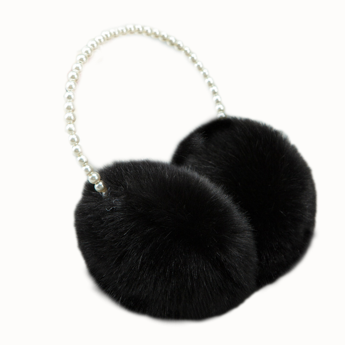 2018 Pearl Winter Earmuff  Rabbit Fur Women Earmuffs Winter Ear Warmers Ear Cover Women Big Plush Warm Earmuffs