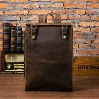 Мужская сумка через плечо модный ретро кожаный рюкзак из натуральной кожи мужской рюкзак для путешествий