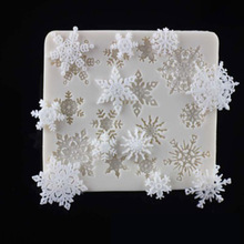 Christmas Decorations Snowflake Fondant Cake Mould Liquid Silicone DIY Baking Tool Decorating Tools Mold