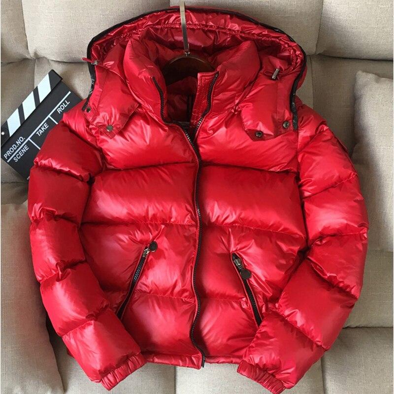 Caliente Black Pato Nieve Con 30 90 Grados Abajo Las Gruesa Mujer Mujeres Capucha Outwear Ropa Brillante Abrigo Blanco De Chaqueta Parkas Invierno red 1A4Oqw