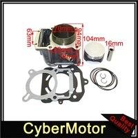 70mm Big Bore Cylinder Piston Kit For Water Cooled 250cc LX250 Zongshen Loncin Engine Pit Dirt Bike ATV Quad 4 Wheeler